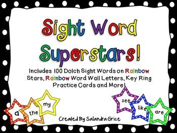 Sight Word Superstars! (Rainbow)