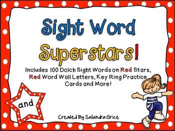 Sight Word Superstars! (Red)