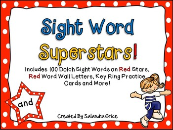Sight Word Superstars! (Red)