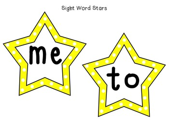 Sight Word Superstars! (Yellow)