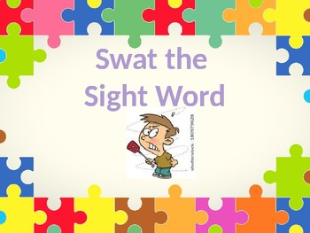 Sight Word Swat Kindergarten