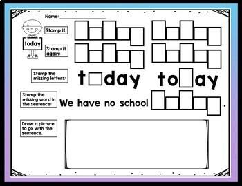 Sight Word THE Activities {6 Literacy Center Activities!}