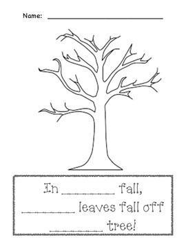 Sight Word, THE, Practice with a Fall Tree