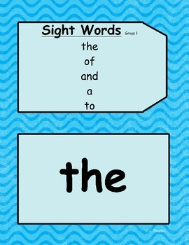 Sight Word THE Sample Package
