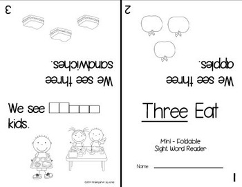 Sight Word: THREE - Interactive Flap Book, Reader, & More!