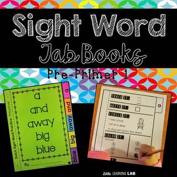 Sight Word Practice Tab Book Pre Primer 1 FREEBIE