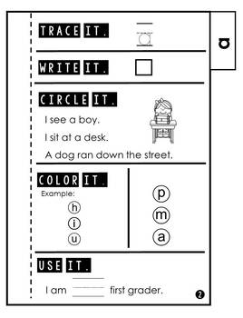 Sight Word Practice   Dolch Pre Primer 1   Tab Book FREEBIE