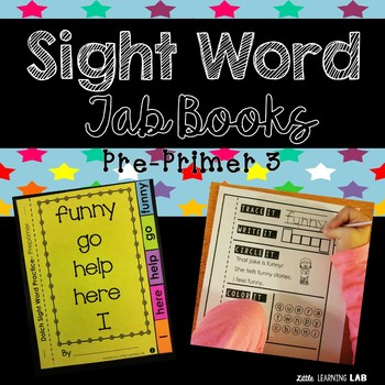 Sight Word Practice   Dolch Pre Primer 3   Tab Book