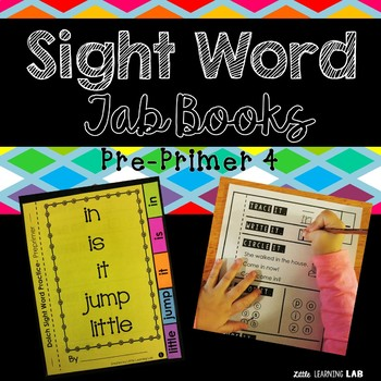 Sight Word Practice | Dolch Pre Primer 4 | Tab Book