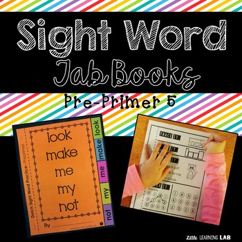 Sight Word Practice | Dolch Pre Primer 5 | Tab Book