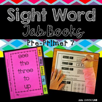 Sight Word Practice | Dolch Pre Primer 7 | Tab Book
