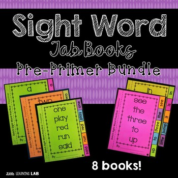 Sight Word Practice Bundle | Dolch Pre Primer | Tab Books
