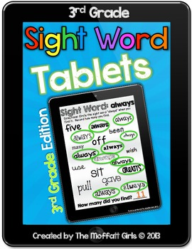 Sight Word Tablets (3rd Grade)