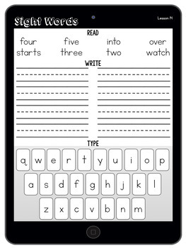 Journeys Sight Word Tablets First Grade Units 1-6