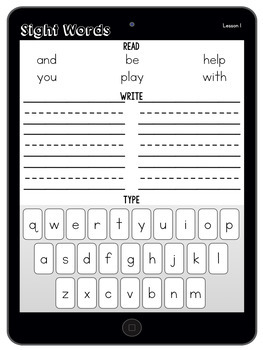Sight Word Tablets (Journeys First Grade Units 1-6 Supplemental Resource)