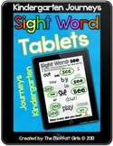 Sight Word Tablets (Journeys Kindergarten)