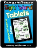 Sight Word Tablets (Kindergarten Treasures)