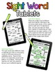 Sight Word Tablets (Pre-Primer)