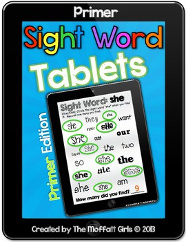 Sight Word Tablets (Primer)