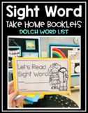 Sight Word Take Home Booklets includes Dolch Words and EDITABLE version