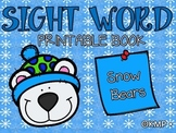 "Sight Word Take Home Practice Book - ""Snow Bears"" {EMERGEN"