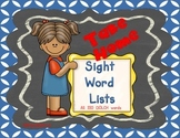 Sight Word Take Home Practice Lists