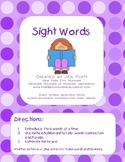 Sight Word Tally Game