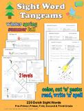 Sight Word Tangrams SUMMER FALL WINTER SPRING