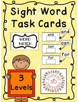 Sight Word Task Boxes