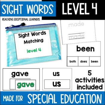 Sight Word Task Card Set Level 4