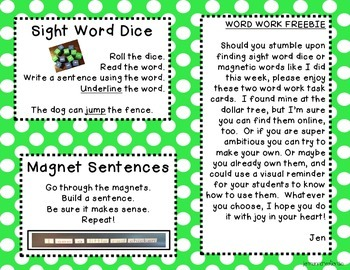 Sight Word Task Cards