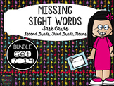 Sight Word Task Cards BUNDLE - Second, Third, and Noun Lists