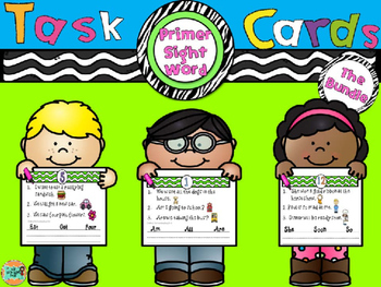 Sight Word Task Cards-Bundle-Primer