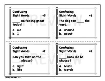 Sight Words Task Cards (Set 1)