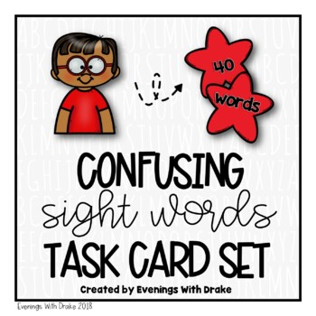 Sight Words Task Cards (Set 1)