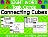 Sight Word Task Cards: Connecting Cubes Fry's 1st 100