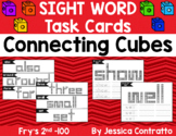 Sight Word Task Cards: Connecting Cubes Fry's 2nd 100
