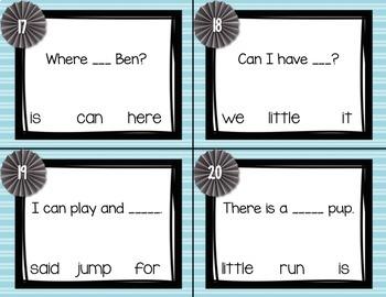 Sight Word Task Cards BUNDLE- Pre-primer, Primer, and First Grade