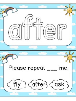 Sight Word Task Cards First Grade