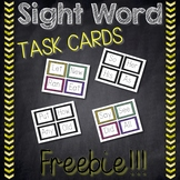 Sight Word Task Cards *FREEBIE*