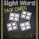 Sight Word Task Cards Freebie