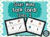 Sight Word Task Cards Level 1 BUNDLE