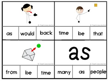 Sight Word Task Cards Level 2-- Growing Set