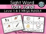 Sight Word Task Cards MEGA BUNDLE (Levels 1 & 2)