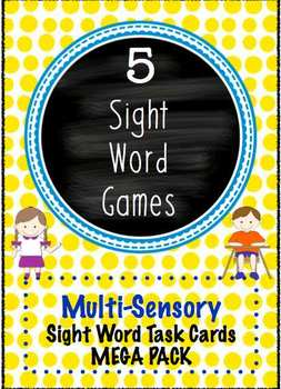 Sight Word Task Cards Multi Sensory Dolch Games Mega Pack