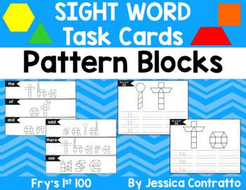 Sight Word Task Cards: Pattern Blocks Fry's 1st 100