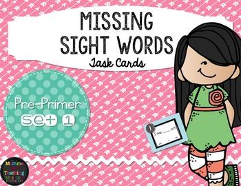 Sight Word Task Cards Pre-Primer