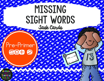 Sight Word Task Cards Pre-Primer