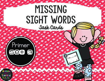 Sight Word Task Cards Primer