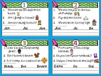 Sight Word Task Cards-Primer